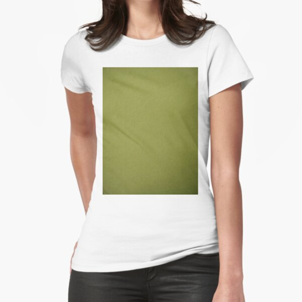 Green, surface, homogenous, smuth Fitted T-Shirt