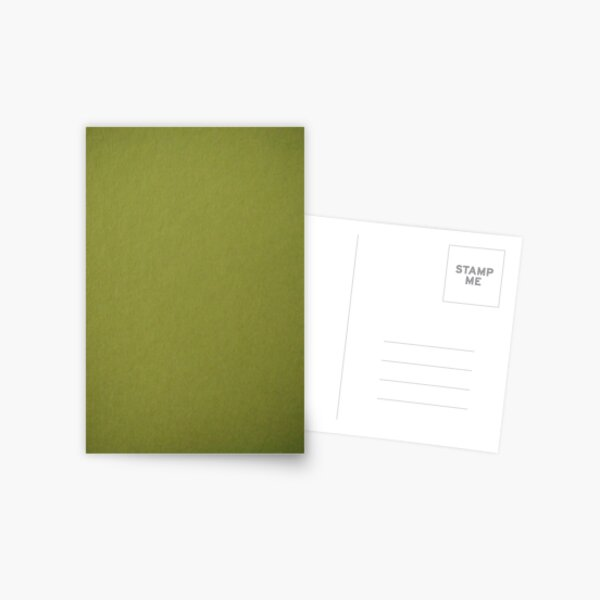 Green, surface, homogenous, smuth Postcard