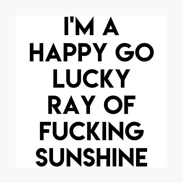 Ray Of Sunshine Lustig Fotodruck