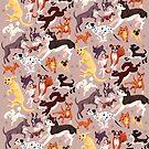 Hunderasse-Muster-Illustration von sophieeves90