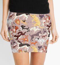 Hunderasse-Muster-Illustration Minirock
