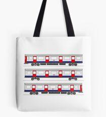 London Underground tube train Tote Bag