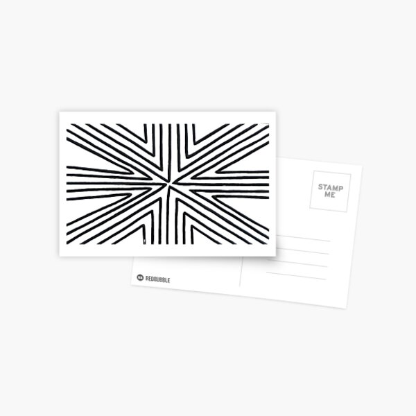 structure, framework, pattern, composition, frame, texture Postcard