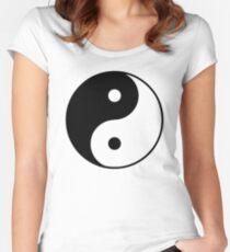 Asian Yin Yang Symbol Women's Fitted Scoop T-Shirt