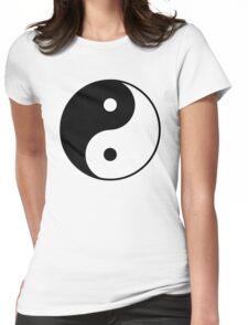 Asian Yin Yang Symbol Womens Fitted T-Shirt