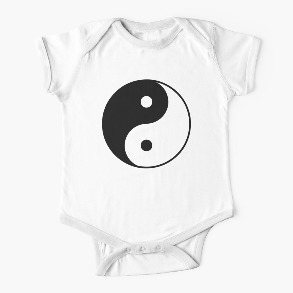 Símbolo asiático de Yin Yang Body para bebé