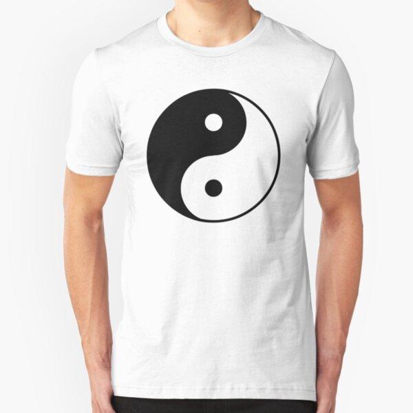 Asian Yin Yang Symbol Slim Fit T-Shirt