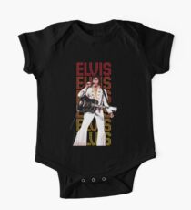 Elvis Presley, King of Rock and Roll, Type background One Piece - Short Sleeve