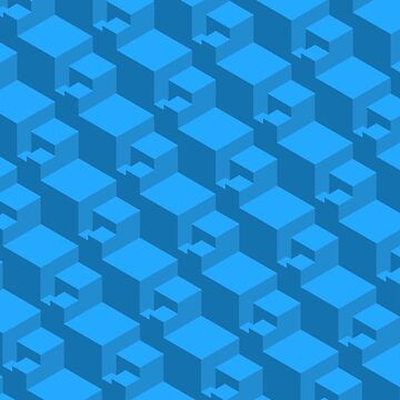 Geometric Patterns Cubes ( Blue ) by doodles-digital