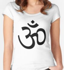 Indian Hindu Aum Om Symbol Women's Fitted Scoop T-Shirt