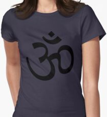 Indian Hindu Aum Om Symbol Womens Fitted T-Shirt