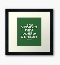Inside They are Children Quote - Jim Henson Framed Print