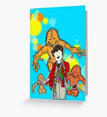 4 and Zygons Greeting Card