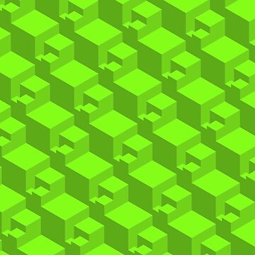 Geometric Cubes ( Green )   by doodles-digital