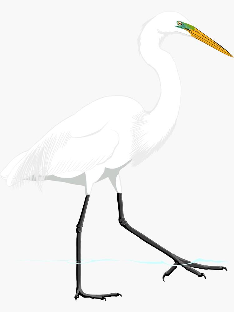 Great Egret by BennuBirdy