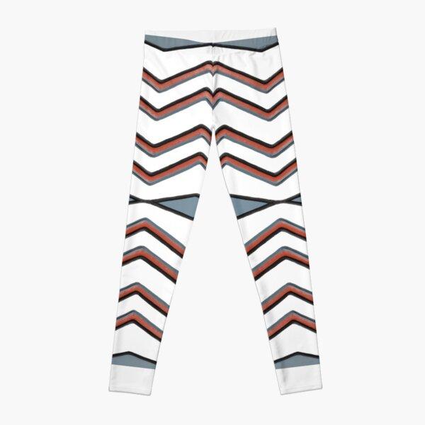 #pattern #abstract #wallpaper #seamless #chevron #design #texture #geometric #retro #blue #white #zigzag #decoration #illustration #fabric #paper #red #green #textile #backdrop #color #yellow #square Leggings