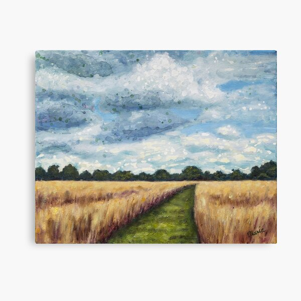 Wheat Field in Holland Canvas Print