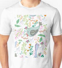 Bids and flowers Unisex T-Shirt