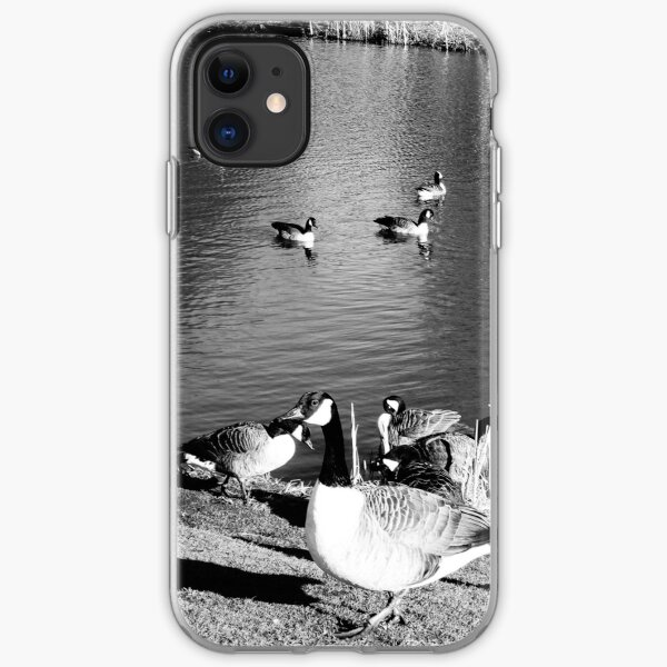 When ducks keep staring at you iPhone Soft Case