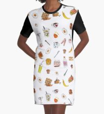 breakfast foods Graphic T-Shirt Dress