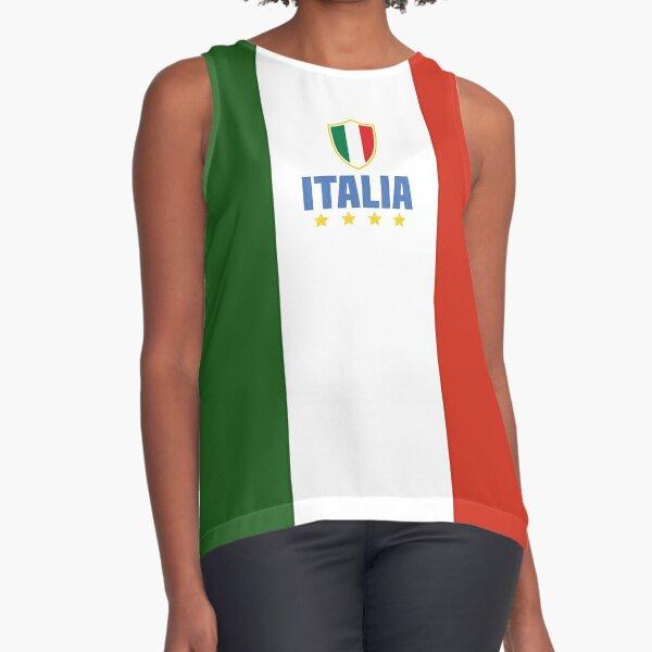 Italia - Italian tricolor  Sleeveless Top