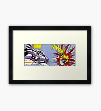 Roy Lichtenstein - Whaam! High Quality Framed Print