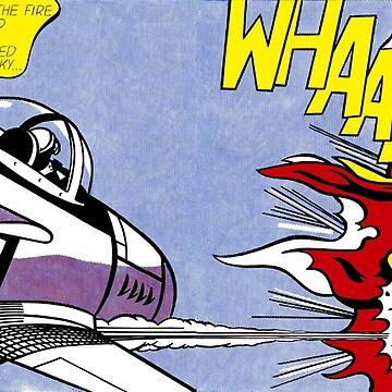Roy Lichtenstein - Whaam! High Quality by jasmineGold