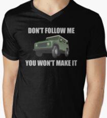 Don't Follow Me Off Road 4x4 Graphic Men's V-Neck T-Shirt