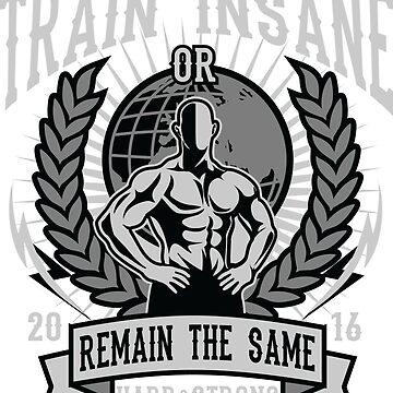 No Pain, No Gain - Train Insane or Remain The Same - Work Harder, Get Stronger by flipper42