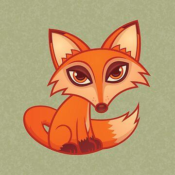 Cartoon Red Fox by fizzgig