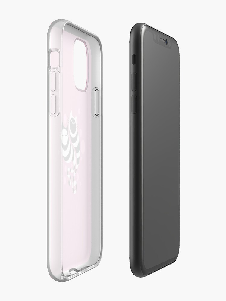 Alternate view of Striped ghost cats Pink iPhone Case & Cover