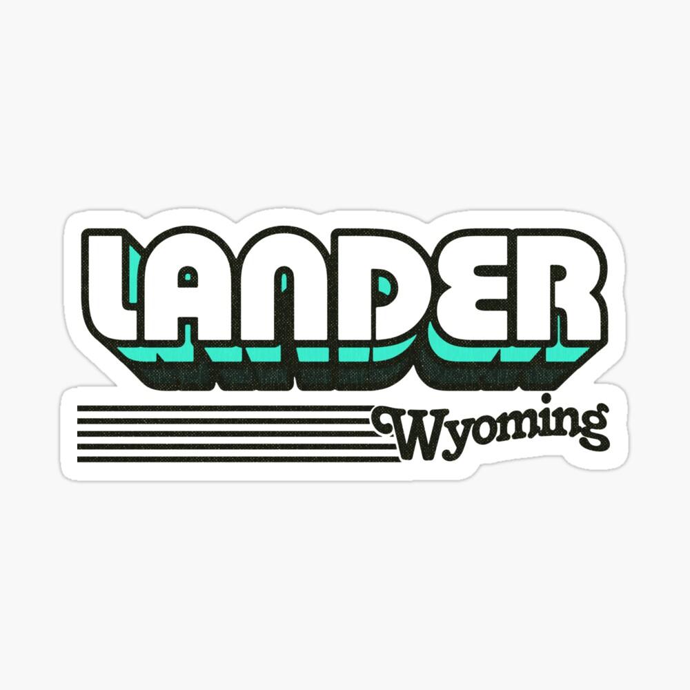 Lander, Wyoming | Retro Stripes Sticker