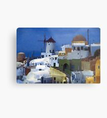 symphony in white and blue Metal Print