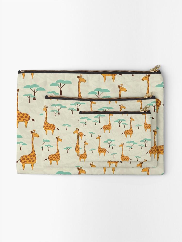 Alternate view of Giraffes Zipper Pouch