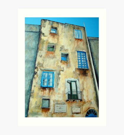 Old Building medieval quarter - Capri Art Print