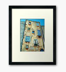 Old Building medieval quarter - Capri Framed Print