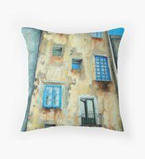 Old Building medieval quarter - Capri Throw Pillow