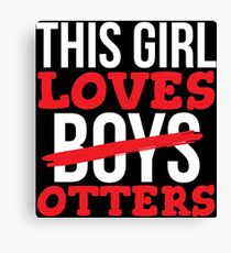 Cute This Girl Loves Otters Gift T-shirt Canvas Print