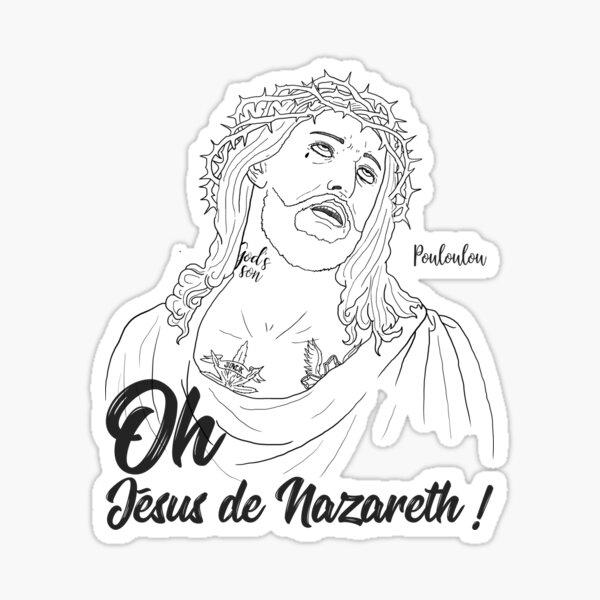 Rap Game - Jesus Pouloulou - black version Sticker
