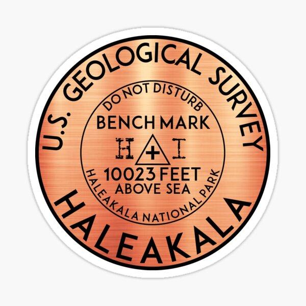 "3/"" Haleakala National Park Sticker Haleakala USGS Benchmark Sticker"