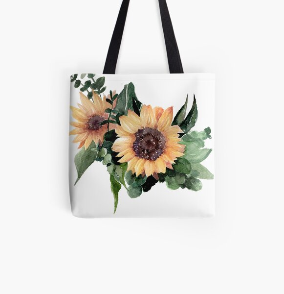 Sunflower II All Over Print Tote Bag