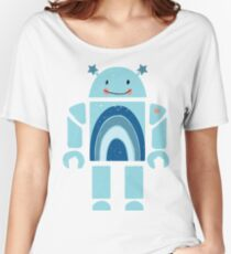 One happy robot Women's Relaxed Fit T-Shirt