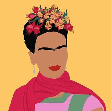 Frida Kahlo - Gelb von thefilmartist