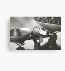Weighing up Coffee Canvas Print