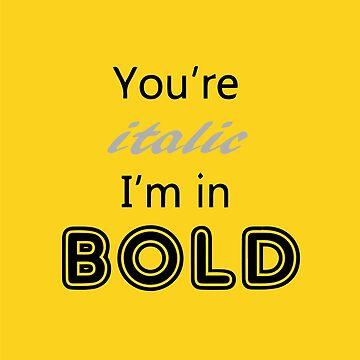Billie Eilish Bold (Yellow) by SilverSeven