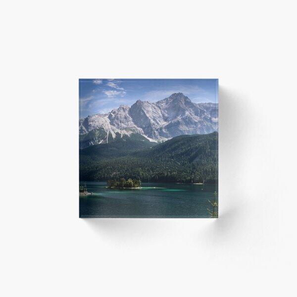 Eibsee Panorama Acrylic Block