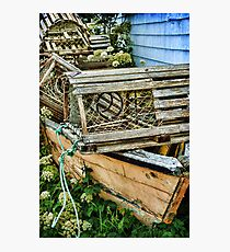 Lobster Pots and Fishing Boats Photographic Print