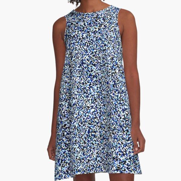 Composition Blue A-Line Dress