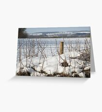 North Dorset snow scene Greeting Card