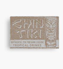 Chin Tiki - Retro Cocktail Lounge Print Canvas Print